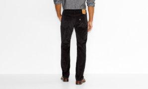 514™ STRAIGHT FIT CORDUROY PANTS - Black3
