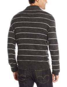 Levi's Men's Chambers Striped Three-Button Sweater - Caviar2