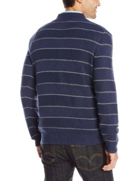 Levi's Men's Chambers Striped Three-Button Sweater - Estate Blue2
