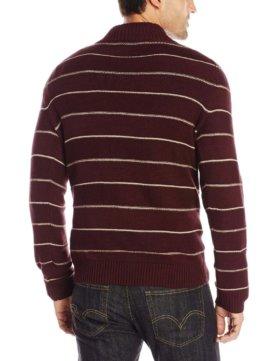 Levi's Men's Chambers Striped Three-Button Sweater - Warm Cabernet2