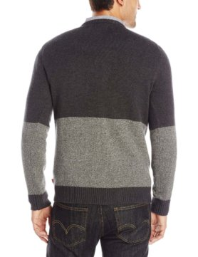 Levi's Men's Diaz Color-Block Crew Sweater - Caviar2