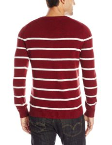 Levi's Men's Winger Striped V-Neck Sweater - Sundried Tomato2