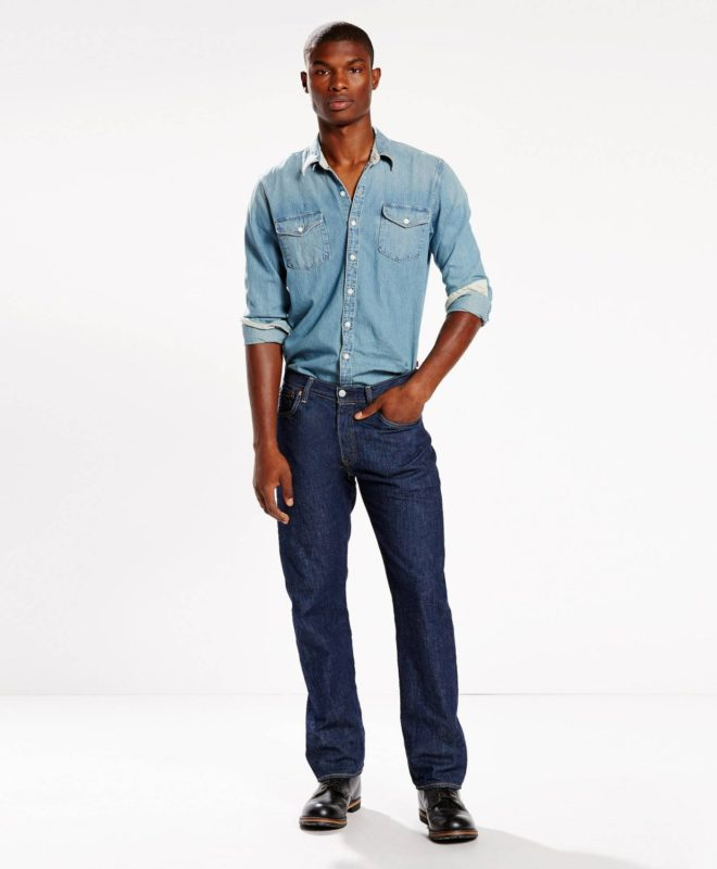 Легкие джинсы Levis 501 - Rinse Light