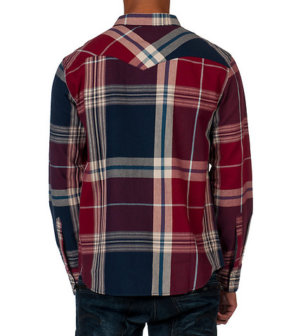 Levis DALDRY TWILL WOVEN SHIRT - Red2