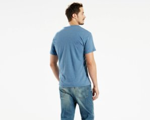 Levis Housemark Tee - BLUE HEATHER2