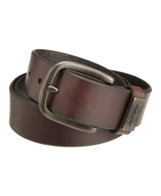 Levi's-Men's-Bridle-Belt-With-Ornament---Brown