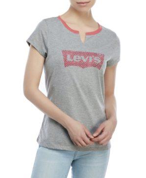 Женская футболка Levis - серая
