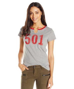 Женская футболка Levis 501 - серая