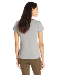 Levi's Women's Split Crew Neck 501 T-Shirt - Grey Heather2
