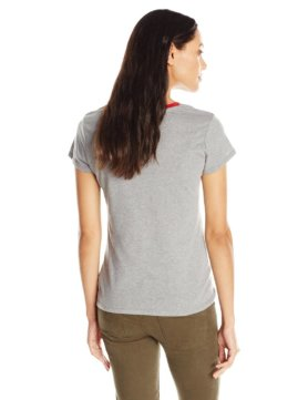 Levi's Women's Split Crew Neck 501 T-Shirt - Grey Heather2