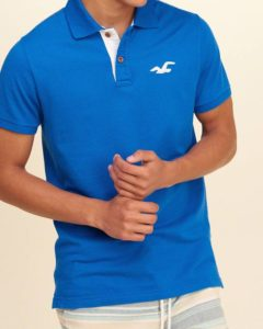 Hollister Solid Pique Polo - Dark Blue3