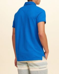 Hollister Solid Pique Polo - Dark Blue4