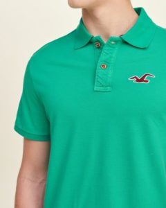 Hollister Solid Pique Polo - Green3