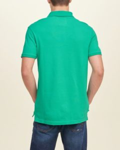 Hollister Solid Pique Polo - Green4