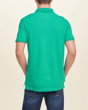Hollister Solid Pique Polo - Green4