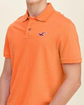 Hollister Solid Pique Polo - Orange3