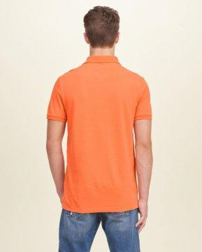 Hollister Solid Pique Polo - Orange4
