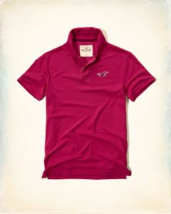 Hollister Solid Pique Polo - Pink