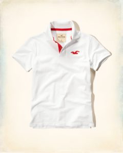 Hollister Solid Pique Polo - White