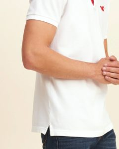 Hollister Solid Pique Polo - White3