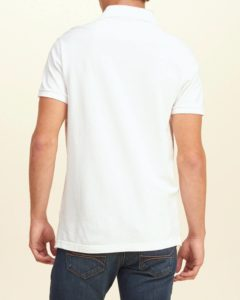 Hollister Solid Pique Polo - White4
