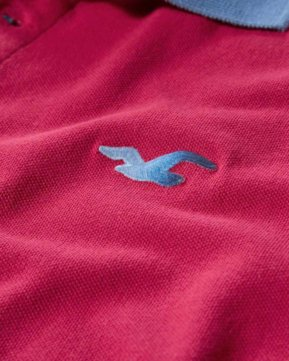 Hollister Washed Pique Polo - Pink3