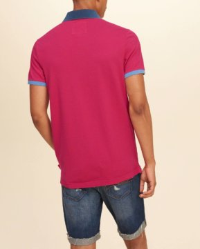 Hollister Washed Pique Polo - Pink4