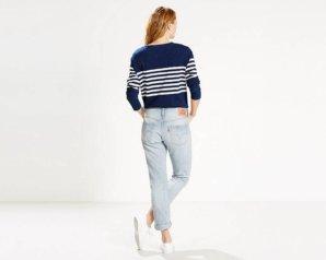 Levis 501 Jeans for Women - Light Sky Delta3