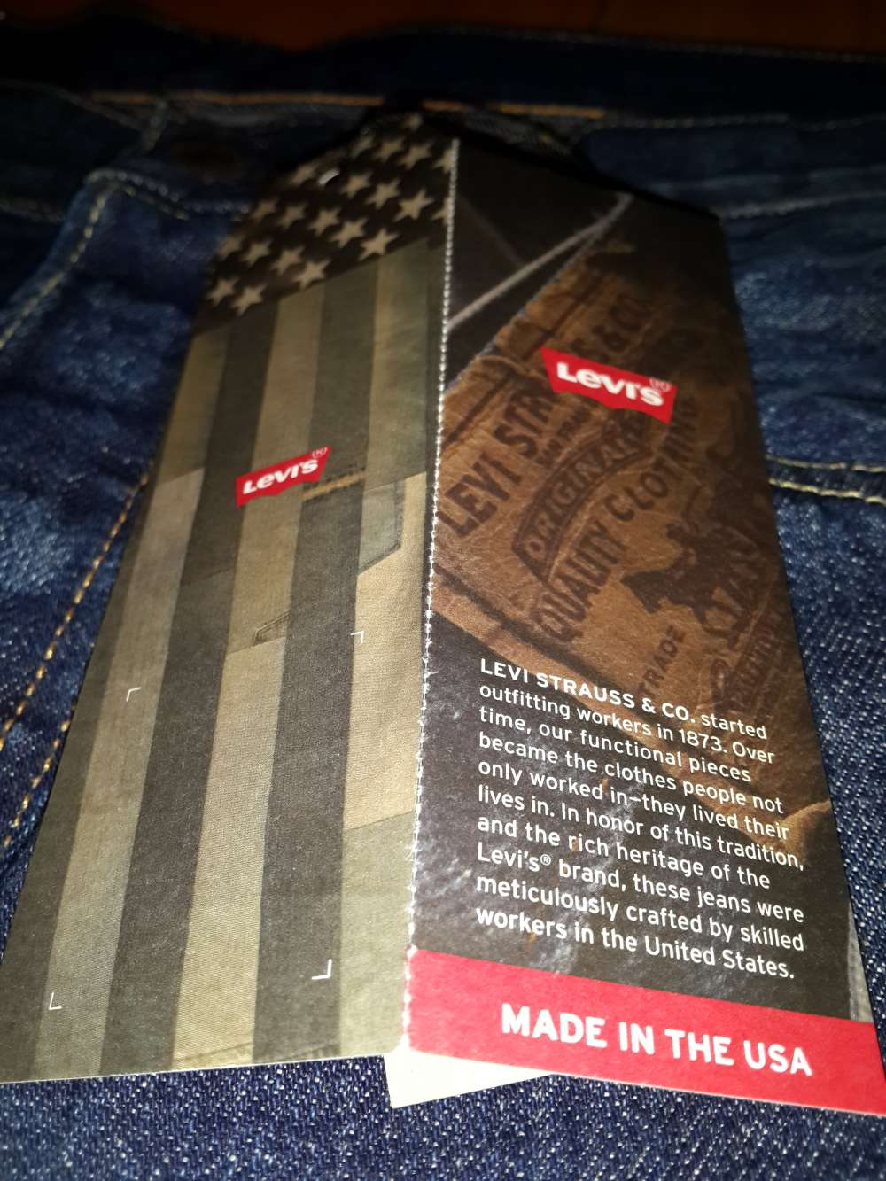 Levis Made in the USA селвидж деним