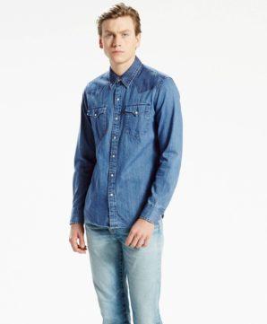Джинсовая рубашка Levi Strauss - синяя