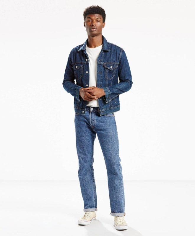 501 модель джинсы Levis Original Fit - Medium Stonewash