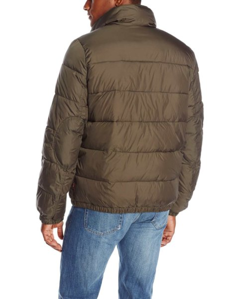 Levis Mens Nylon Classic Puffer Jacket - Olive2