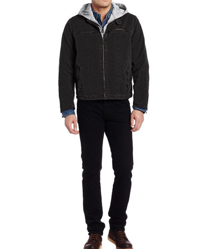 Демисезонная куртка Levis - черная/оливковая