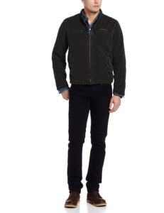 Levis Mens Racer Hooded Jacket - Black3