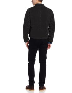 Levis Mens Racer Hooded Jacket - Black4