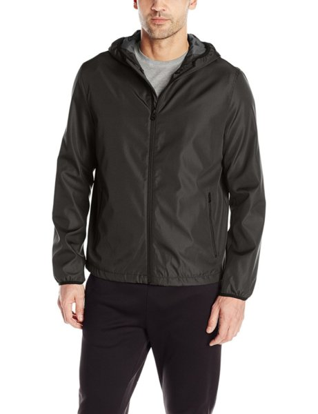 Levis Mens Rip Stop Performance Hooded Jacket - Black