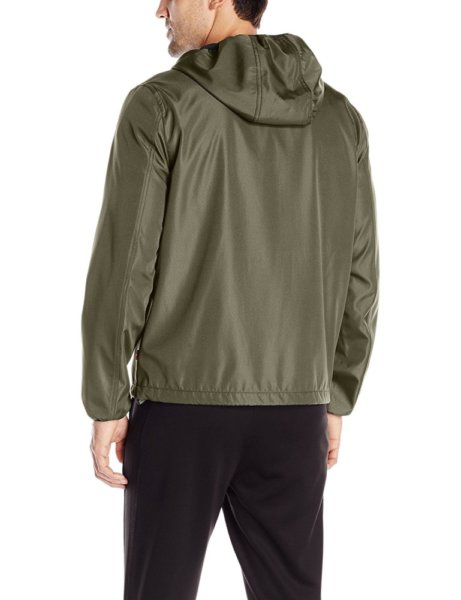 Levis Mens Rip Stop Performance Hooded Jacket - Olive2