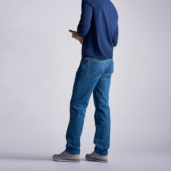 Lee Men's Regular Fit Straight Leg Jean - Pepper Stonewash2