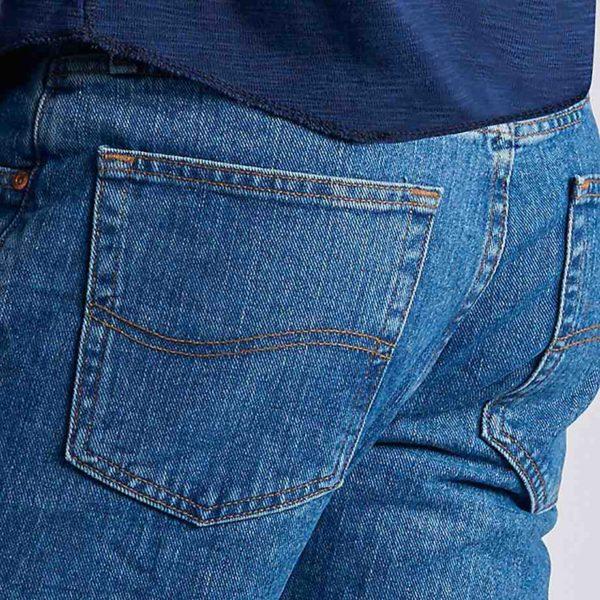 Lee Men's Regular Fit Straight Leg Jean - Pepper Stonewash4