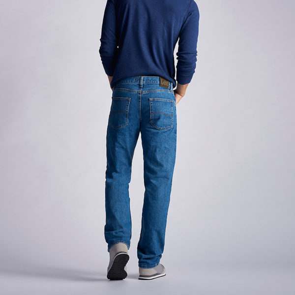 Lee Men's Regular Fit Straight Leg Jean - Pepper Stonewash5