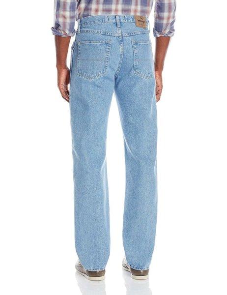 Wrangler Authentics Mens Classic Regular-Fit Jean - Light Stonewash2