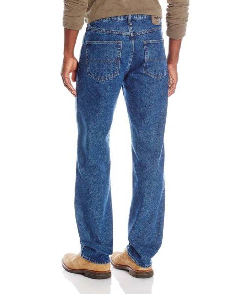 Wrangler Authentics Mens Classic Regular-Fit Jean - Medium Stonewash2