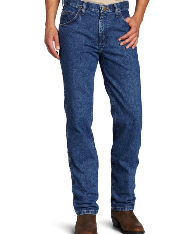 Узкие мужские джинсы Wrangler Premium Performance - Dark Stone