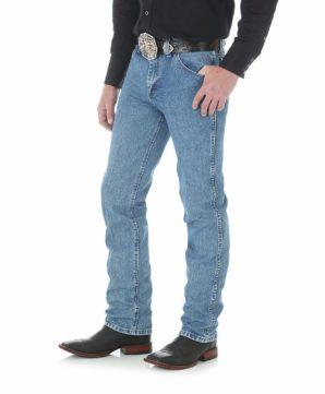 Узкие мужские джинсы Wrangler Premium Performance - Stonewashed
