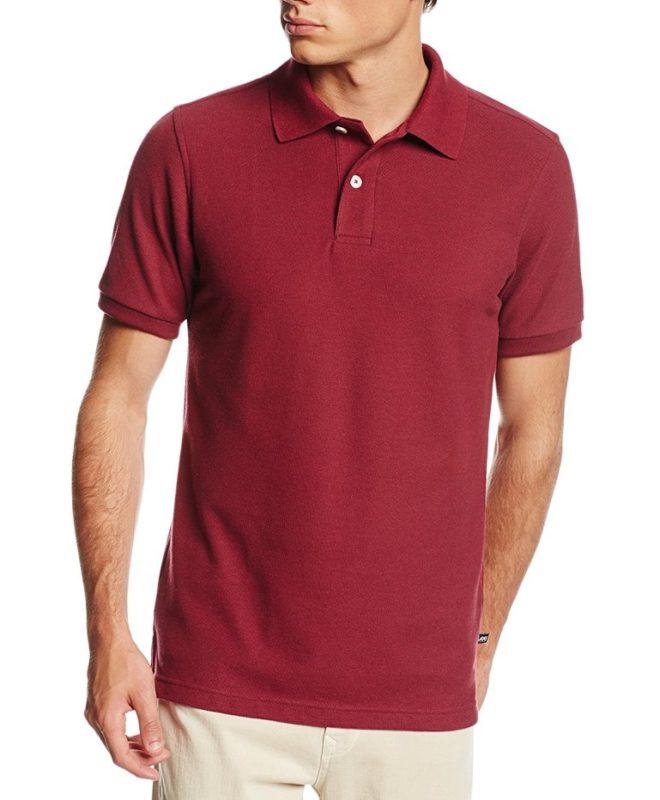 Мужская футболка-поло Lee - Burgundy