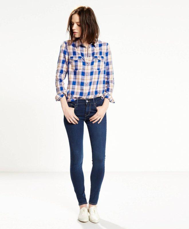 Супер скинни джинсы Levis 710 - Head West