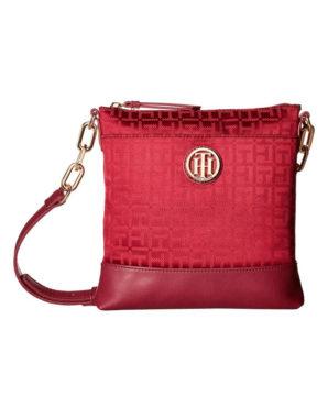 Женская сумочка Tommy Hilfiger Almira North 22х22 см - Merlot
