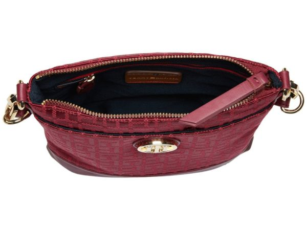 Tommy Hilfiger Almira North-South Crossbody - Merlot5