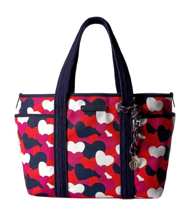 Tommy Hilfiger Dariana Heart Tote - Bright Rose-Multi