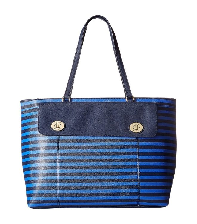 Женская сумка Tommy Hilfiger Polly II Tote 45х30 см - Сине-голубая